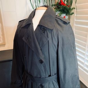 Vintage Black Belted Trench coat by Casual Corner
